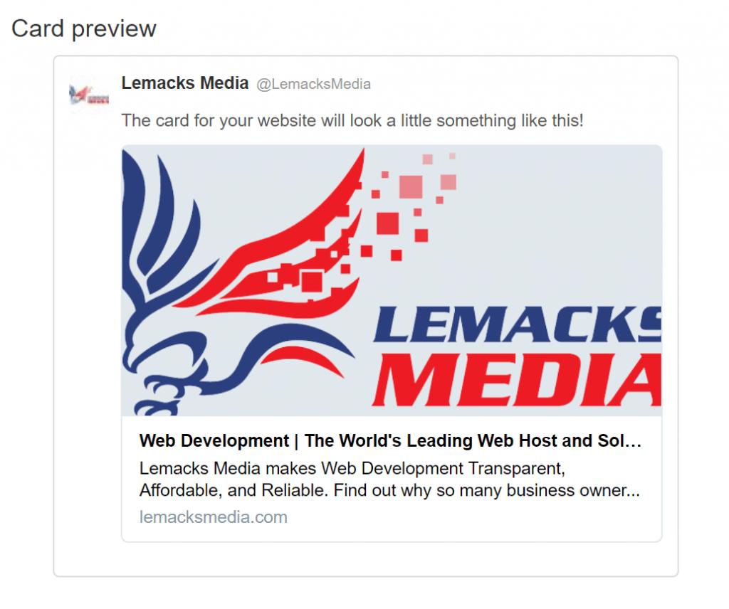 Lemacks Media Twitter Card Preview