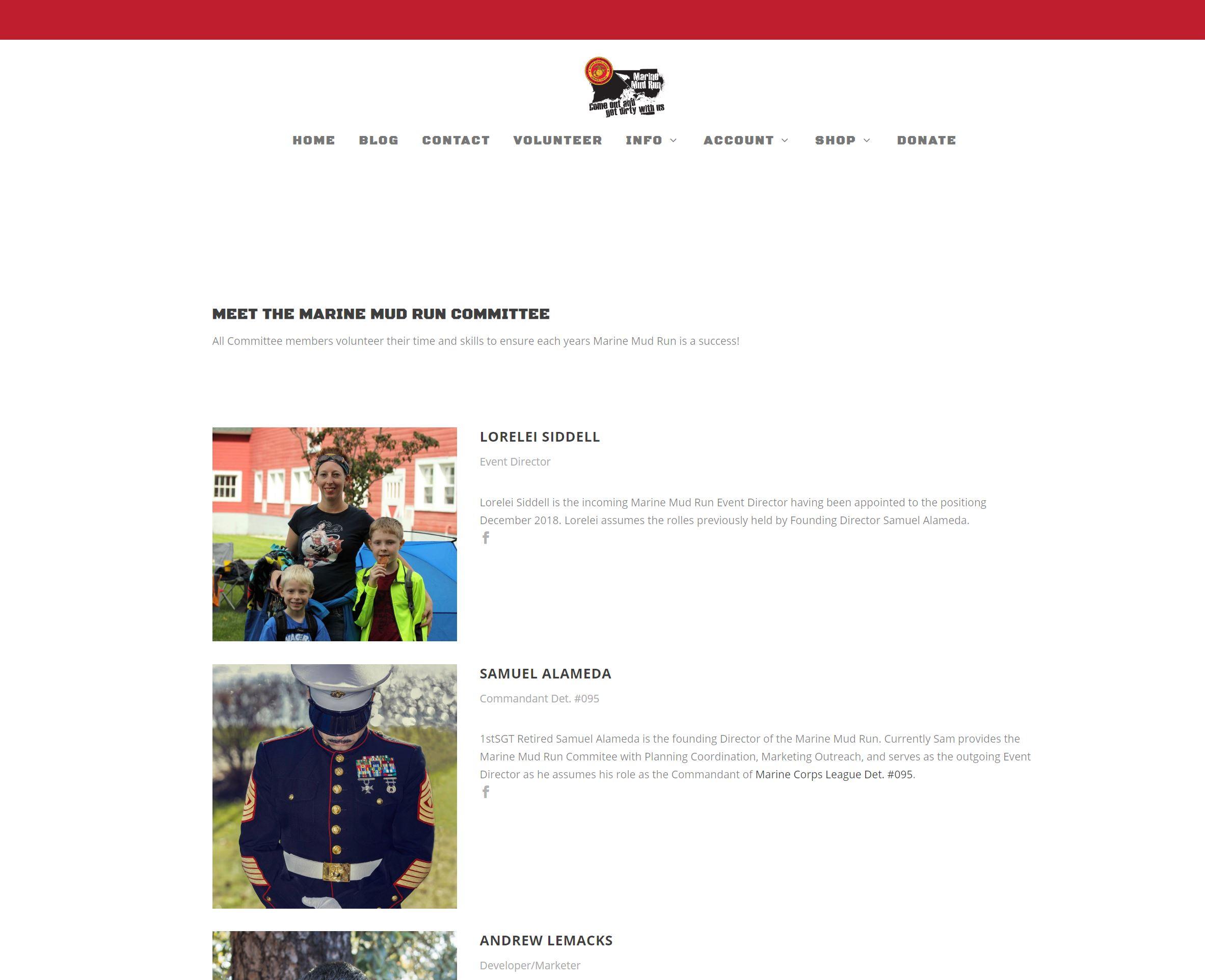 Marine Mud Run site by Lemacks Media