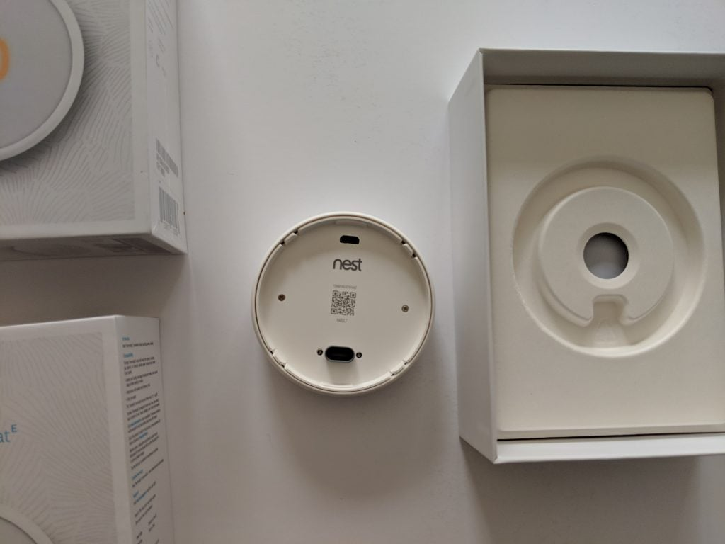 Nest Thermostat E back