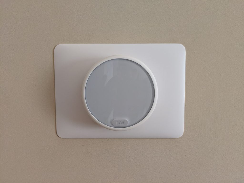 Nest Thermostat E mounted