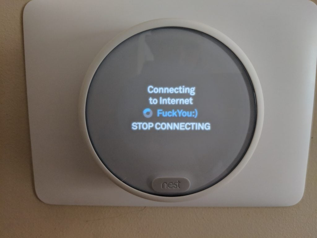 Nest Thermostat E WiFi setup