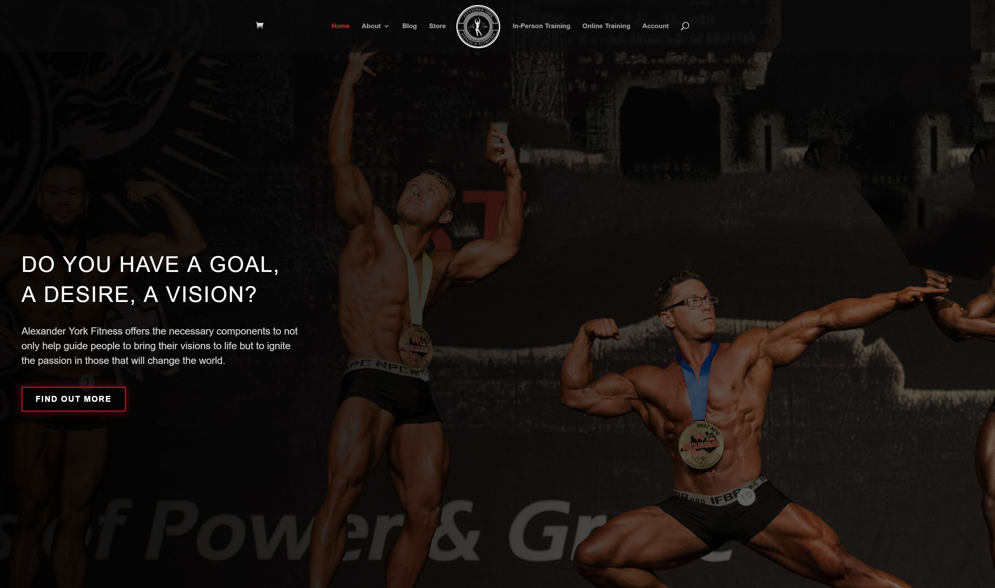 Alexander York Fitness homepage preview
