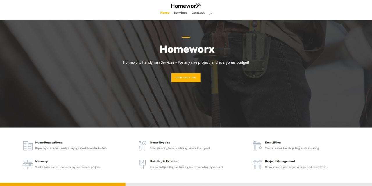 Homeworx Handyman Service site launch