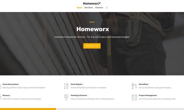 Homeworx Handyman Service site launch