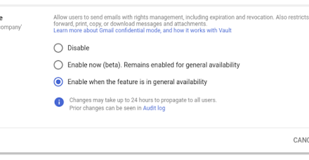 Gmail confidential mode launching on by default on June 25, 2019
